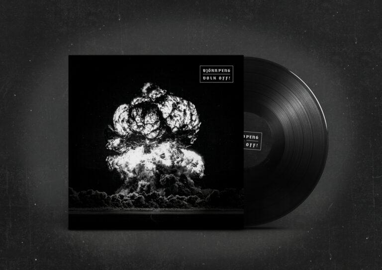 Darstellung der Volk-Off Schallplatte mit schwarzem Vinyl