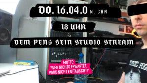 Flyer für den ersten Online Stream aus dem Studio