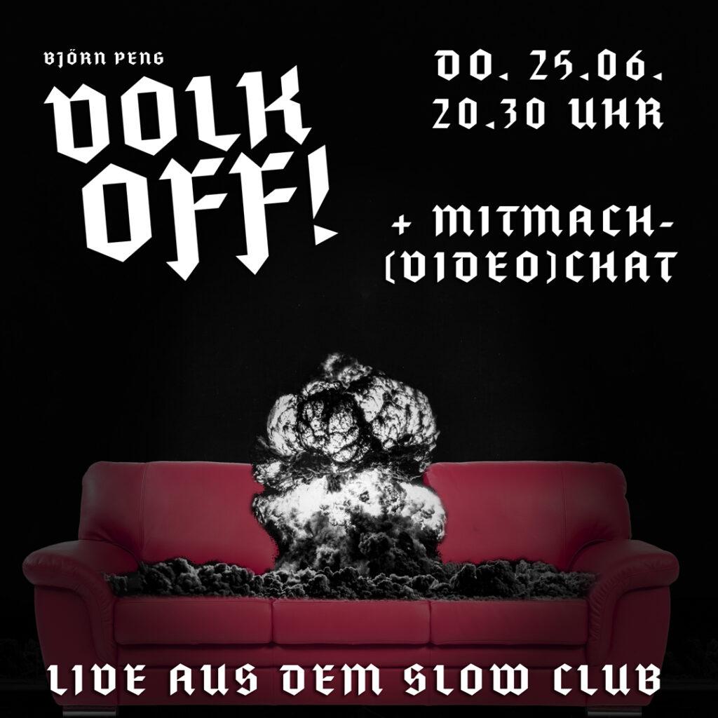 Flyer für den Live-Stream aus dem Slow Club Freiburg